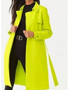 FOREVER 21 Neon Brushed Trench coat